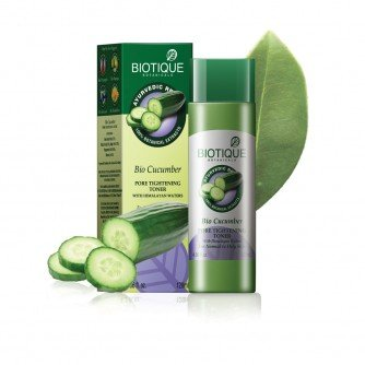 Biotique Bio Cucumber Pore Tightening Toner With Himalayan Waters For Normal (Best Toner For Sensitive Skin In India)