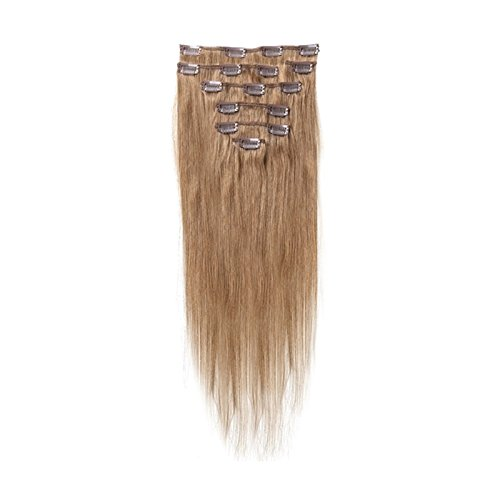 SODIAL(R) Women Human Hair Clip In Hair Extensions 7pcs 70g 20inch Brown