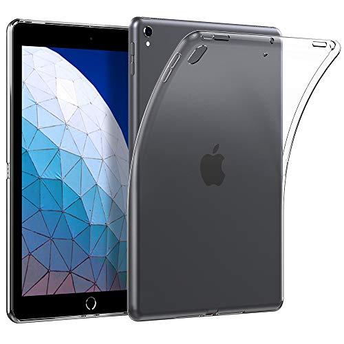 EasyAcc iPad Air 3 2019/ iPad Pro 10.5 Back Case, Ultra Light Slim Flexible Soft TPU Clear Case Shockproof Anti Slip Back Protector Cover Compatible iPad Air 3 2019/ iPad Pro 10.5 (2017) - Clear