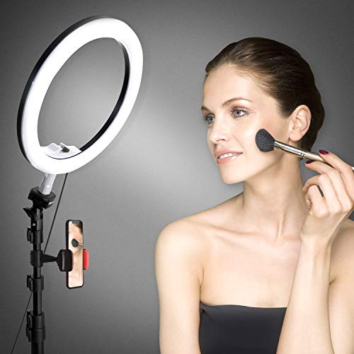 10.2'' Selfie Ring Light with Tripod Stand & Cell Phone Holder for Live Stream/Makeup, UBeesize Mini Led Camera Ringlight for YouTube Video/Photography Compatible with iPhone Android (Upgraded) by UBeesize (Image #4)