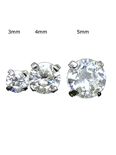 TheMaddHatter Dermal Cz Top Prong Setting 316l Surgical Steel (14g) (3mm CZ)