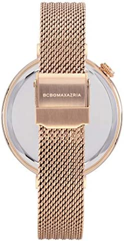 BCBGMAXAZRIA Women's Dress Sport Japanese-Quartz Watch with Stainless-Steel Strap, Rose Gold, 13.2 (Model: BG50906002)