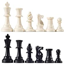 "Tournament Chess Men Triple Weighted 3 3/4"" King"