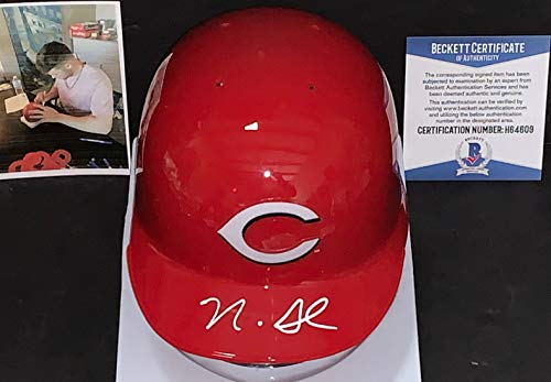 Nick Senzel Cincinnati Reds Autographed Signed Mini Helmet BECKETT WITNESS COA Cincinnati Reds Autographed Mini Helmet