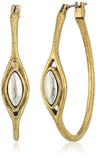 Lucky Brand Two Tone Hoop Earrings