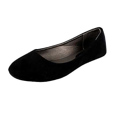 West Blvd West-Blvd-Ballet-Womens Ballet Ballet-Flats, Black Suede, 9