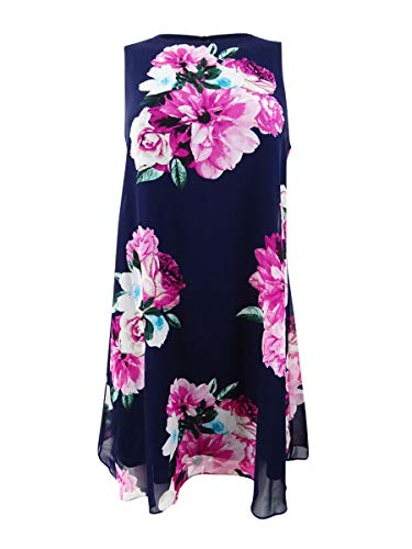 - Jessica Howard Womens Petites Mini Fit & Flare Cocktail Dress Navy 6P
