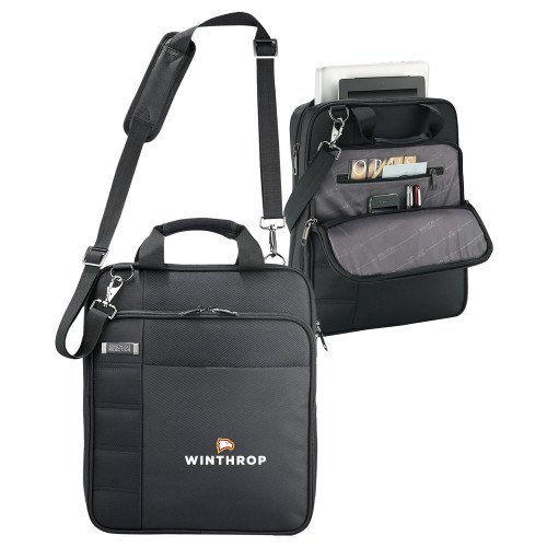 Winthrop Kenneth Cole Black Vertical Checkpoint Friendly Messenger 'Primary Mark' by CollegeFanGear