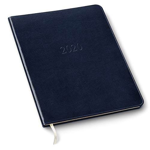 (2019/2020 Gallery Leather Large Monthly Planner Acadia Navy 9.75