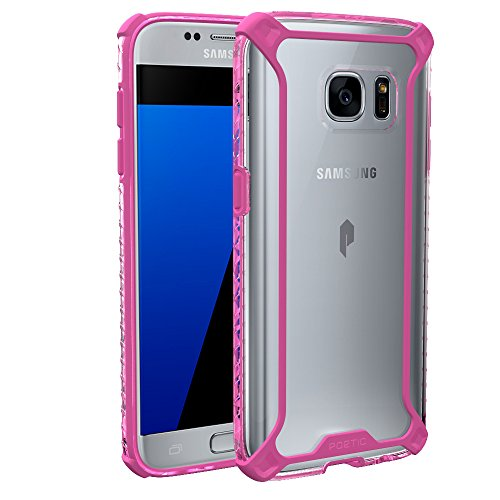 Galaxy S7 Case, POETIC [Affinity Series] [Premium Thin][Corner Protection] No Bulk/Protection Where its Needed/Dual Material Protective Bumper Case for Samsung Galaxy S7 Pink/Clear ()