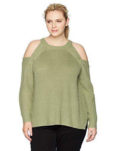 Rebel Wilson X Angels Womens Plus Size Cold Shoulder Sweater