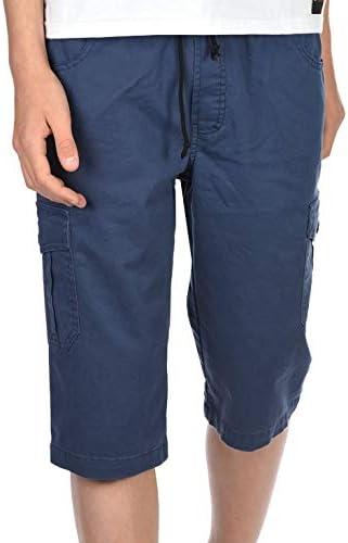 Cargo Shorts Kinder Jungen Kurze Hose Capri Shorts 3//4 Bund Dehnbund 30065
