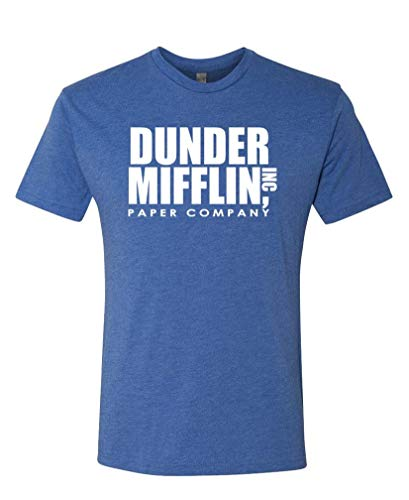 Dunder Mifflin - Office Show Paper Company - Unisex Next Level Tee, 2XL, TRI-Blend Royal