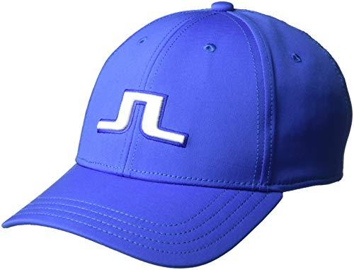 J.Lindeberg Men's Bridge Logo Cap, Daze Blue, One Size