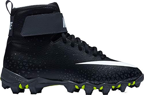 Nike Kids' Force Savage Shark Football Cleats(Black/Grey,5.5k)