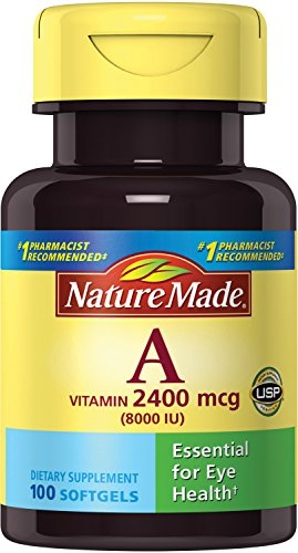 Nature Made Vitamin A 8000IU, 100 Softgels
