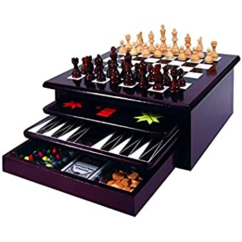 Deluxe 7 In 1 Game Set Chess Checkers