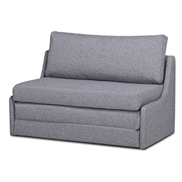Sabine Twin Size Sleeper Loveseat Sofa Bed Made W/Linen In Marble Finish  30.31u0027