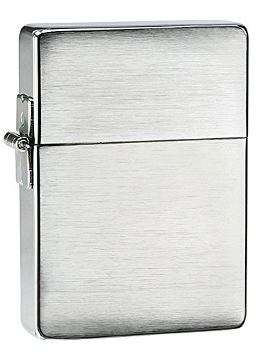 Lighter Chrome Pocket - Zippo 1935 Replica Brushed Chrome Without Slashes Pocket Lighter