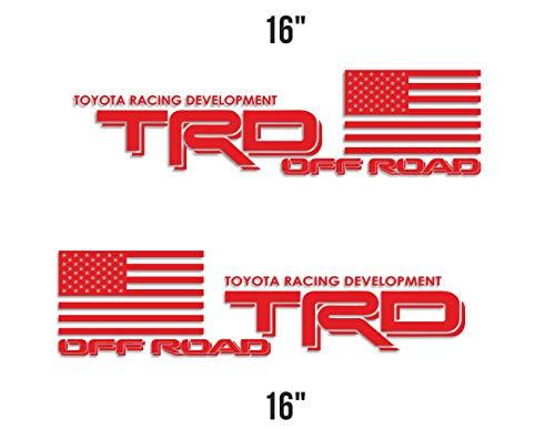 Creative Club Stickers x2 TRD Decal Toyota Racing Development Sticker Truck Tacoma Tundra Off Road 4x4 Vinyl Car Emblem 16