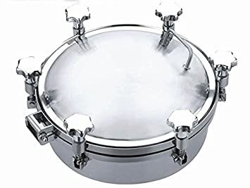 New Stainless Steel Pressure Circular Manhole Cover Tank Round Manway Door (200mm)  sc 1 st  Amazon.com & Amazon.com: New Stainless Steel Pressure Circular Manhole Cover ... pezcame.com