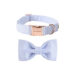 Pet Soft &Comfy Bowtie Dog Collar and Cat Collar Pet Gift for Dogs and Cats 6 Size and 7 Patterns Click on image for further info.