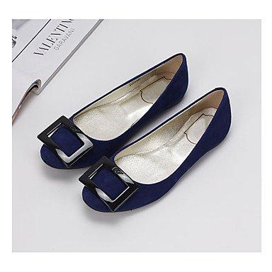 Cómodo y elegante soporte de zapatos de las mujeres pisos Otoño Invierno funda de piel Casual Flat Heel otros azul rosa rojo gris otros rojo