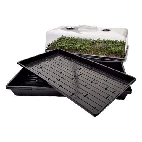 Microgreen Hobby Starter Bundle 10 Extra Strength Microgreen Trays, 10 1020 Trays, and 5 Humidity Domes by Bootstrap Farmer by Bootstrap Farmer