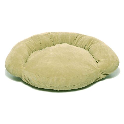 Cpc Velvet Microfiber 42-Inch Bolster Bed, Sage
