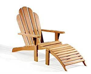 Silla de Adirondack madera de teca con reposapiés de jardín -, calidad y valor