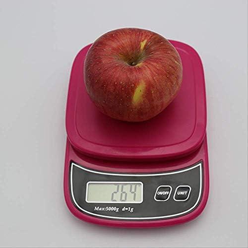 Bilancia Cucina Precisione,Bilancia Da Cucina Quadrata Rosa Da 1G / 5Kg