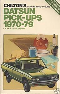 Chilton's repair & tune-up guide, Datsun pick-ups, 1970-79, L16, L18, L20B engines