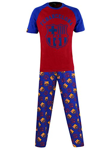Barcelona Football Club Mens F.C Pajamas Size Medium (Club Football Barcelona)