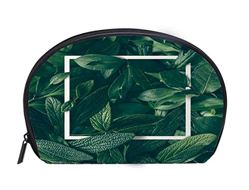 - Portable Toiletry Cosmetic Bag Creative layout made of flowers and leaves with paper card note Flat lay Nature concept Travel Cosmetic Case Luxury Makeup Artist Bag