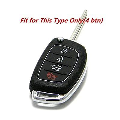 KAWIHEN 2 PCS Silicone Keyless Entry Case Cover Smart Remote Key Fob Cover Protector For Hyundai Sonata Santa Fe XL Tucson 4 Buttons (FCC ID: TQ8-RKE-4F16 / P/N: 95430-C1010): Automotive