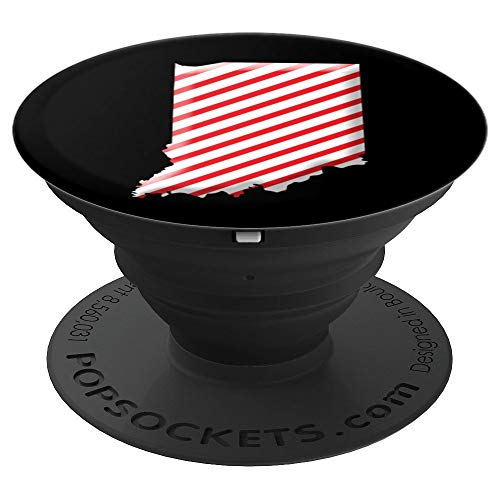Cane Candy Indiana Peppermint Candy - PopSockets Grip and Stand for Phones and Tablets -