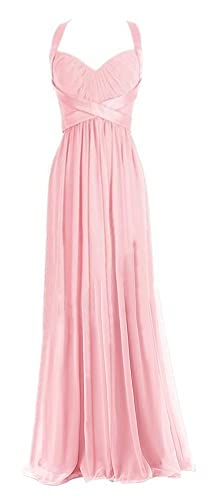 Chloyi Sweetheart Sleeveless Chiffon Ball Gown Evening Prom Party Dresses