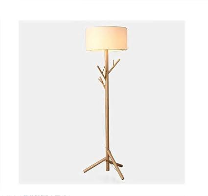 LIGHT Lámpara de pie Madera Maciza Perchero Percha lámpara ...
