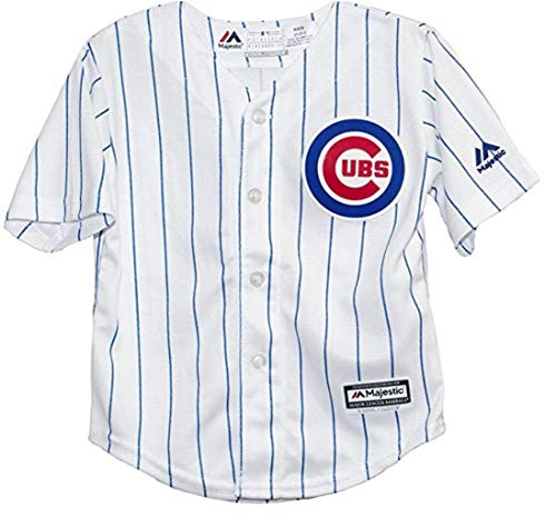 (Chicago Cubs Cool Base Home Majestic Pre School Jersey (Size 7))