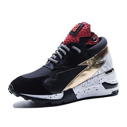 GAOLIXIA Zapatos deportivos de mujer para mujer Zapatos deportivos de cuero de primavera Zapatos planos ocasionales Zapatos deportivos de gimnasia liviana Gold
