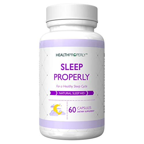 HEALTH PROPERLY #1 Sleeping Pills for Better Dreams | Natural Sleep Aid Supplement | Scientifically Formulated to Help You Stay Asleep | Melatonin GABA | Insomnia Anxiety Relief | Best Sleep Medicine