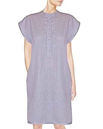 Armani International Contemporary Soft Linen Sleep Shirt Round Neck ... f15e852aa
