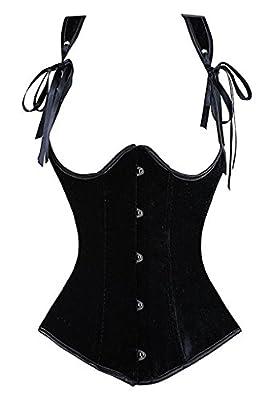 Camellias Womens Gothic Steampunk Tesla Steel Boned Underbust Waist Training Corsets Vest