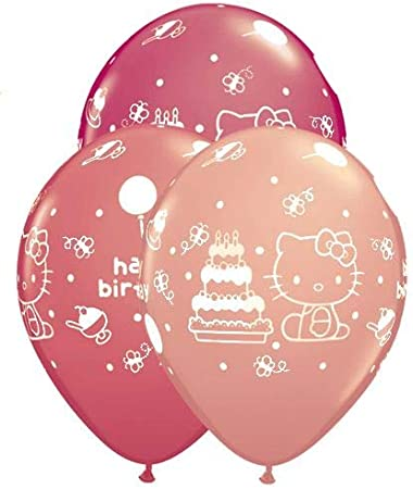 Hello Kitty Birthday Party Decoration Supplies Happy Birthday Balloons Banner for Kids Girls Pink Party Balloon Set