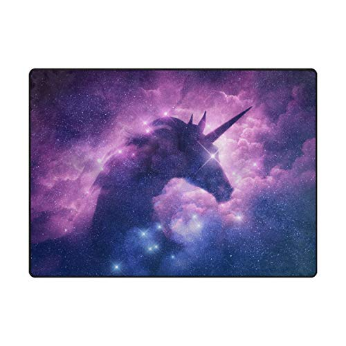 Mr.XZY Unicorn Starry Sky Nebula Pretty Pattern Area Rug
