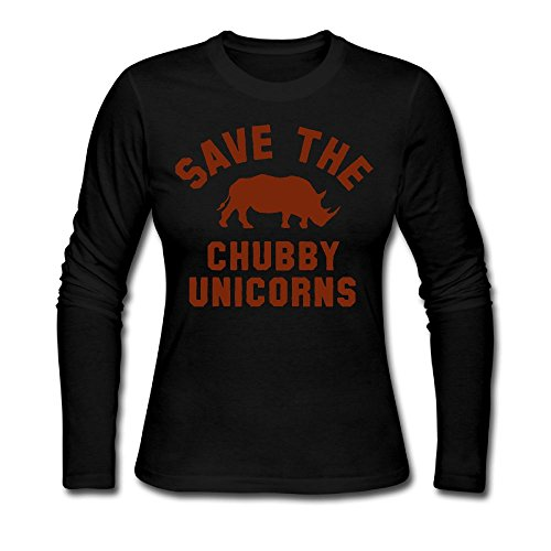 Save The Chubby Unicorns Women's T Shirts,Long Sleeve Base Shirt Outer Garment For Women (Autumn Save The Date Magnets)