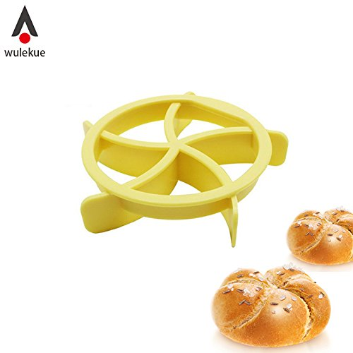 Plastic Kaiser Roll Maker Cake Mold Bread Seal Cutter Baking Decoration ()