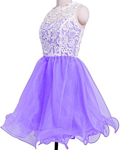 Fashion Plaza Robe de princesse Bal des finissants Robe de Bal D0250 (EU44, lavande)