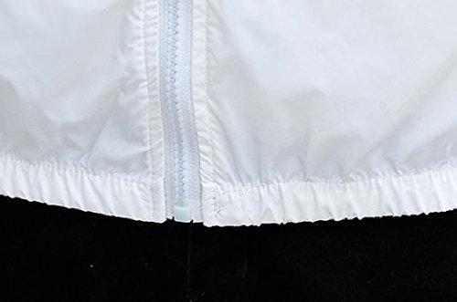 Againg Cappotto Cappuccio Giacca Uomo Bianco Esterno Uomini Stampato Protezione Vestiti Traspirante Da Studente Solare Againg Con rqrw68W7H