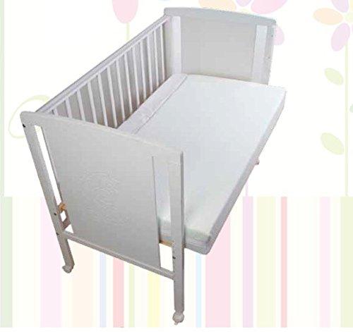 Cuna para bebé, modelo Oso Dormilón Mundi Bebé+ KIT COLECHO + Colchón Viscoelástica + Protector de colchón impermeable: Amazon.es: Bebé